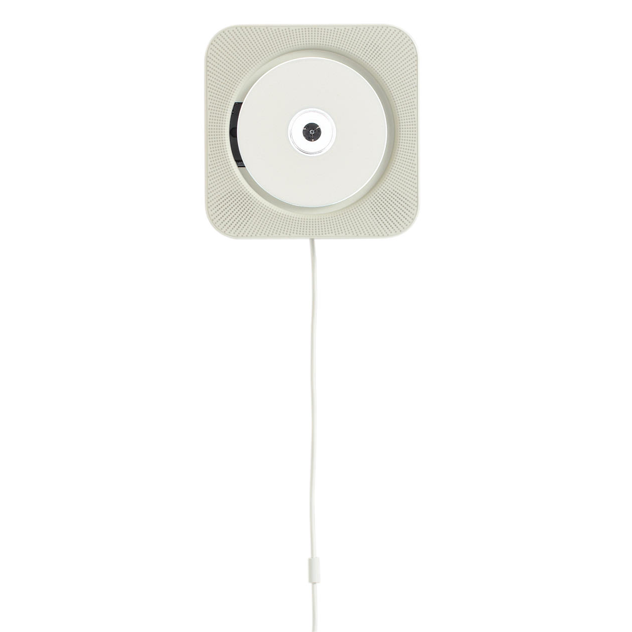 Wall mounted CD player with remote