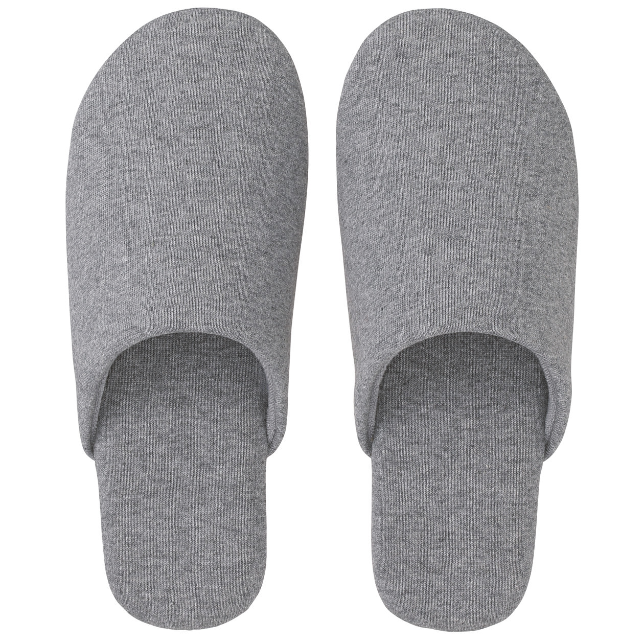 Cotton Jersey Soft Slippers Grey